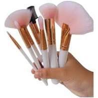 Kit 8 Pincéis Maquiagem Makeup Brush Rosa Lindo