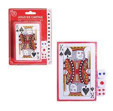 Kit Jogo de Cartas Baralho com 54 cartas + 3 dados