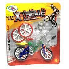 Bicicleta De Dedo Com 4 Acessórios mais 2 rodas