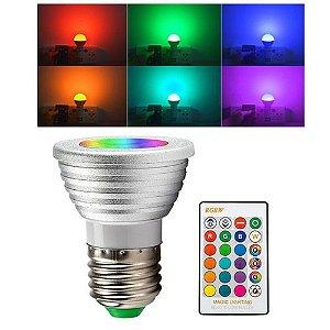 Lâmpada LED rgb 5w Lâmpadas LED Lâmpadas Indicadoras Controle Remoto 16 Mudança de Cor