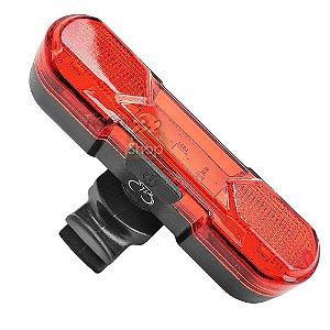 Lanterna Traseira Bike LED USB Recarregável 4h de Luz Forte