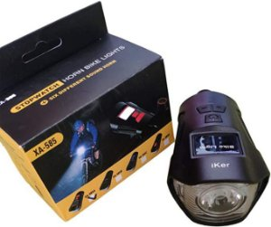 Lanterna Bike 3 Em 1 Velocímetro + Buzina Mais Top Mercado