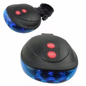 Luz De Bicicleta Ciclovia Laser Azul Tail Light Bike