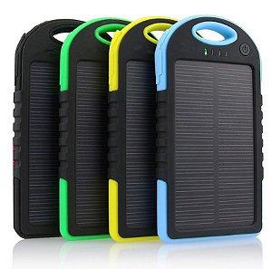 Power Bank Solar Carregador Universal Portátil Usb Economia