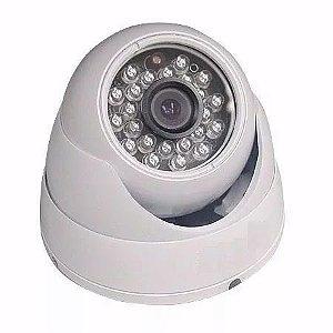 Camera De Segurança Dome Branca Infra-vermelho Ccd Interna