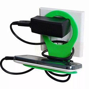 Suporte Para Carregar Celular Iphone Na Tomada/parede Apoio
