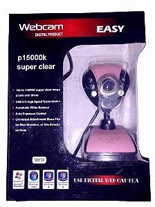 Webcam Rosa Usb Com Microfone Visão Noturna Todos Os Windows