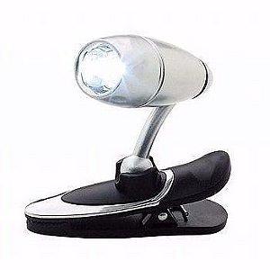 Lanterna De Led Para Leitura Com Prendedor Multi Uso
