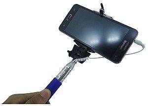 Monopod Bastão De Selfie com fio 88cm Todos Os Celulares