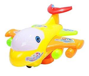 Avião Brinquedo Acende Luz Canta Música, Colorido Joy