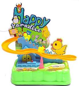 Brinquedo Escorregador De Galinhas Musical Descida
