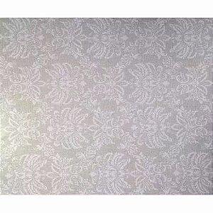 Papel De Parede Arabesco Cinza Rolo Resistente 5 metros X 45 cm