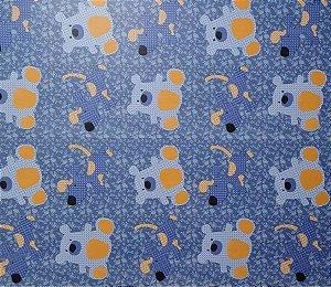 Papel De Parede Infantil Ursinhos Azul e amarelo Adesivado 5 Metros Por 45cm #3