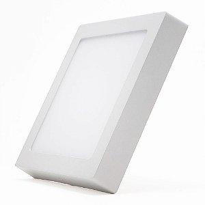Luminária Led Sobrepor Quadrado 18w Bivolt 22cm X 22cm