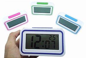 Relógio Digital De Mesa - Fala Hora E Temperatura - Alarme