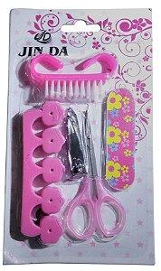 Kit Manicure ,cortador De Unha, Tesoura, 5 Peças Eficientes