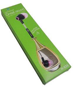 Fone De Ouvido Perfumado, Com Microfone, Som Estéreo Mp3 P2