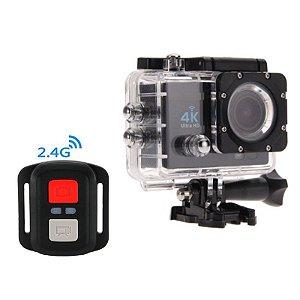 Câmera Action Sports 4k Ultra Hd 16mp C/ Controle Wifi