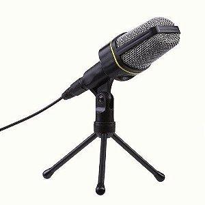 Microfone Com Fio Pra Pc P2 Condensador Sf-920 Estudio Cabo