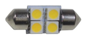 Lampada Pra Carro Led Interno Teto 4 Leds 12v Led Automotivo