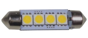 Lampada Para Carro Led Interno Teto 4 Leds Esticado 12v