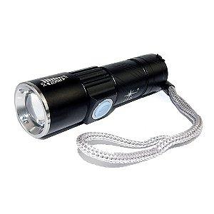 Mini Lanterna Tática De Led Com Usb Recarregável Jy-8832 Q5