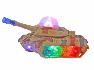 Tanque De Guerra De Brinquedo Veículo Militar Com Sons E Led