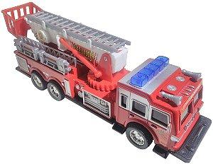 Caminhão De Bombeiro Brinquedo, Anda E Emite Sons Sh-8809