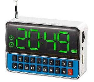 Rádio Relógio Digital Com Despetador Ws-1513 Usb Sd Fm Mp3