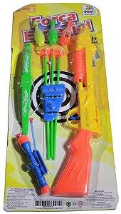 Kit Arma De Brinquedo Tiro Ao Alvo + Flechas No Boliche