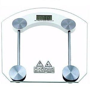 Balança Digital Para Banheiro Vidro Temperado 180kg Qf-2003b