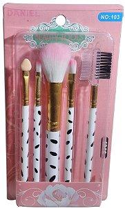 Kit De Pincel Para Maquiagem 5 Pcs Fashion Brush Set Daniel
