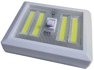 Luminária De Parede Interno/externo 4 Leds Cob Interruptor