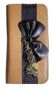 Capa Para Galaxy Pocket Gt-s5312 (abre E Fecha) Case Laço
