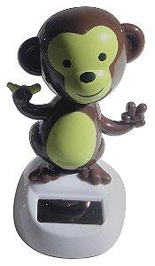 Boneco Macaco Brinquedo Que Dança Com Luz Solar