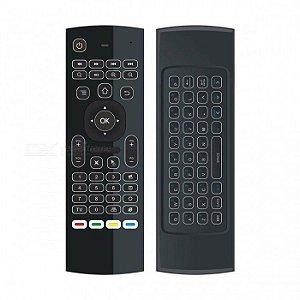 Controle Air Mouse Com Mini Teclado Wireless Smart Tv Box Pc