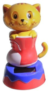 Boneco Gato Na Bota Brinquedo Que Dança Com Luz Solar