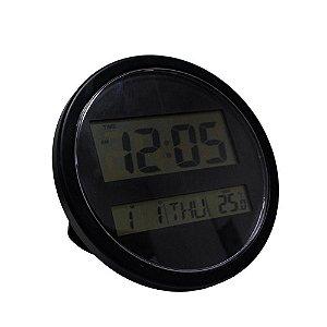 Relógio Digital de parede Preto wall clock redondo Kk-3885