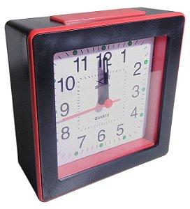 Relógio despertador quadrado portátil Quartz alarm Clock