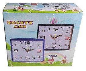 Relógio analógico de mesa ponteiro Quartz alarm GL-8863