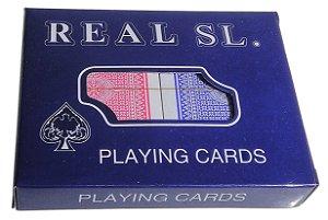 Baralho Real SL Com 2 Jogos Plastico