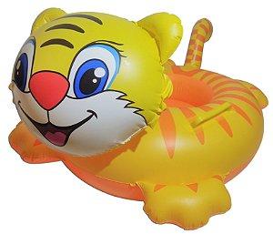 Boia Inflável Gato Modelo Bote Infantil Para Bebê Piscina