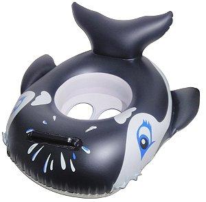 Boia Inflável Baleia Modelo Bote Infantil Para Bebê Piscina
