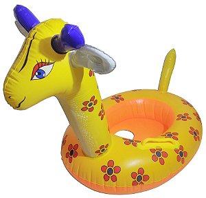 Boia Inflável Girafa Modelo Bote Infantil Para Bebê Piscina