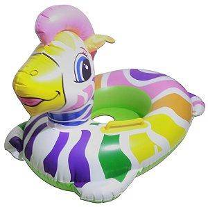 Boia Inflável Zebra Colorida Modelo Bote Infantil Para Piscina