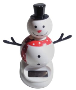 Boneco De Neve Solar Toy Brinquedo Que Dança Com Luz Solar