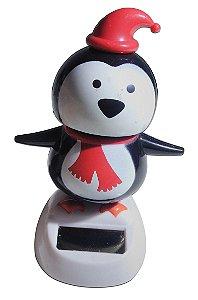 Boneco Pinguim De Natal Brinquedo Que Dança Com Luz Solar