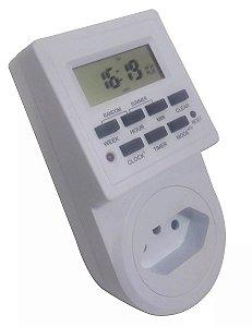 Timer Temporizador Digital Bivolt Prog/dia Liga/desl Digital