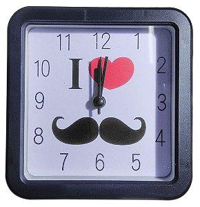 Relógio De Mesa Quadrado Portátil Quartz Alarm Clock