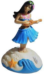 Boneca Hula Girl Ukulele Brinquedo Que Dança Com Luz Solar